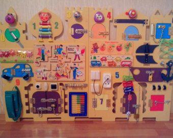Busy Board 35 elements Activity Board Sensory by BusyBoardOlga