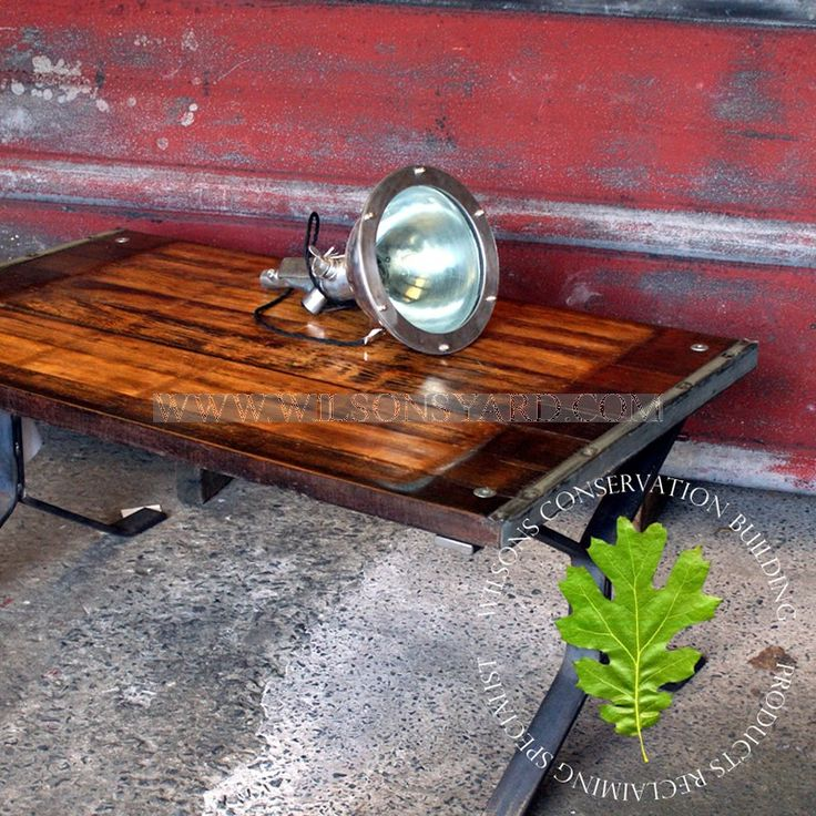 Industrial African Hardwood panel coffee table | Wilsonsyard.com