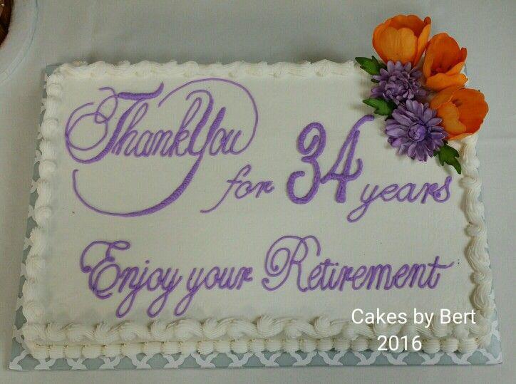 Ruhestand Blatt Kuchen   – Retirement party