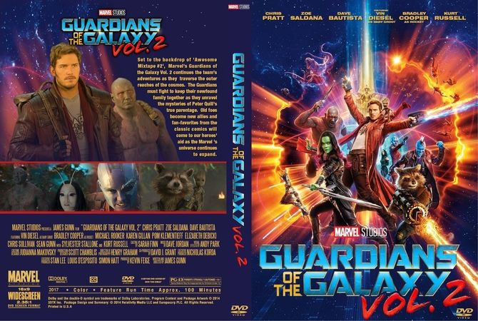Guardians Of The Galaxy Vol. 2 (2017) DVD Custom Cover
