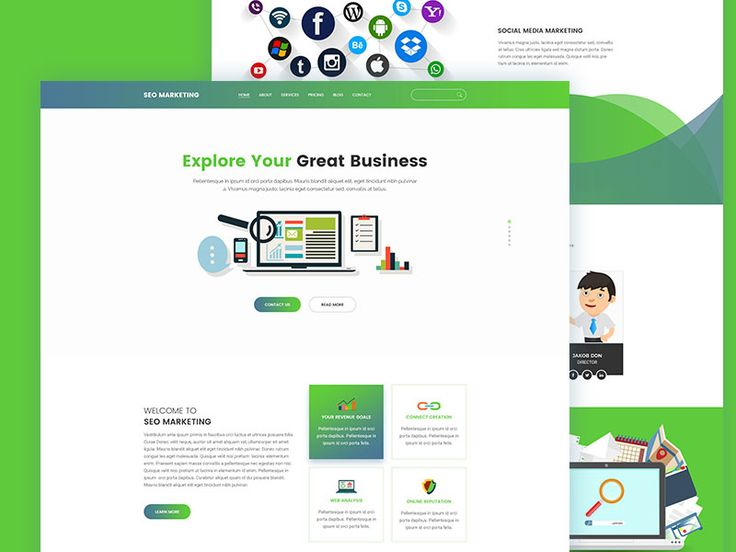 Seo Marketing Landing page Template by Tauhid sajib
