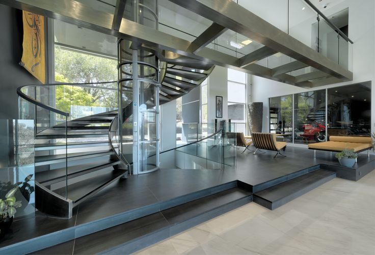 Best Curved Stainless Steel Staircase Glass Bridges Even A Glass Elevator Stainless Steel 400 x 300