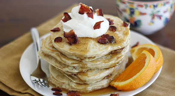Bacon and Coffee Pancakes | Quick Dish Recipes