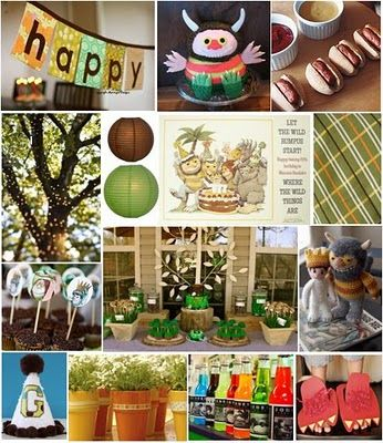"""Where The Wild Things Are"" inspired birthday party"