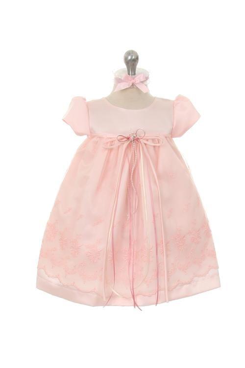 bruidsjurkje voor baby's. Emma. Een satijnen lijfje met een rok van zacht tule en afgewerkt met prachtig kant.