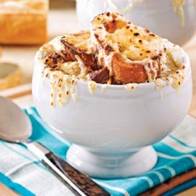 Soupe gratinée à l'oignon et au boeuf - Recettes - Cuisine et nutrition - Pratico Pratique