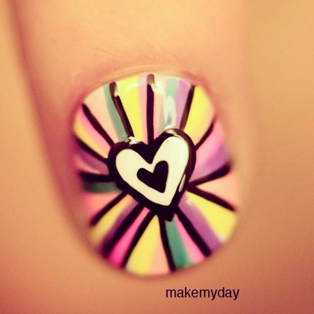 Heart nail by MAKEMYDAY