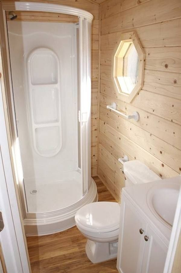 Cabinas De Baño Baratas:Tiny House Bathroom