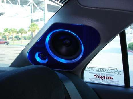 Nice looking custom rear pillar install done in a 2003 Mitsubishi Lancer - what…