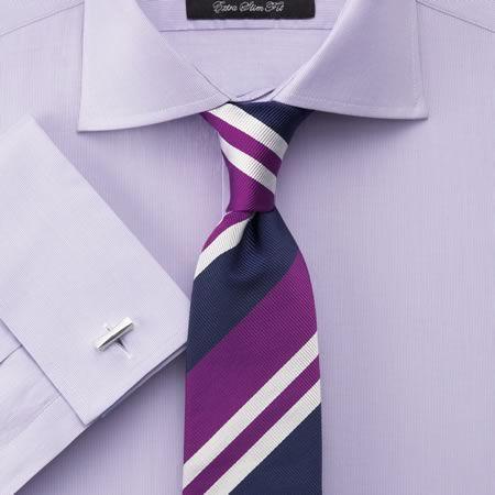 Lilac fine stripe black label extra slim fit shirt for Mens dress shirts charles tyrwhitt