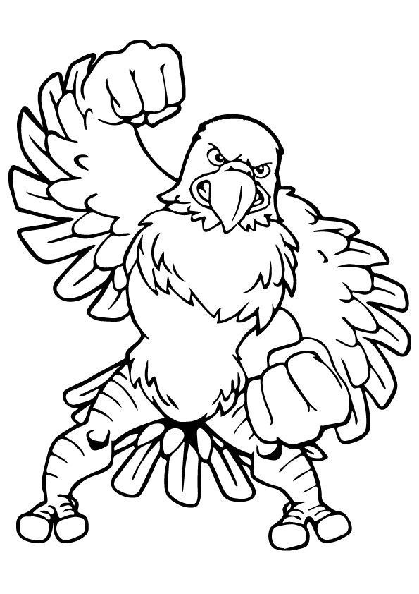 Angry Eagle Cartoon Coloring Pages Coloring Pages Eagle Cartoon