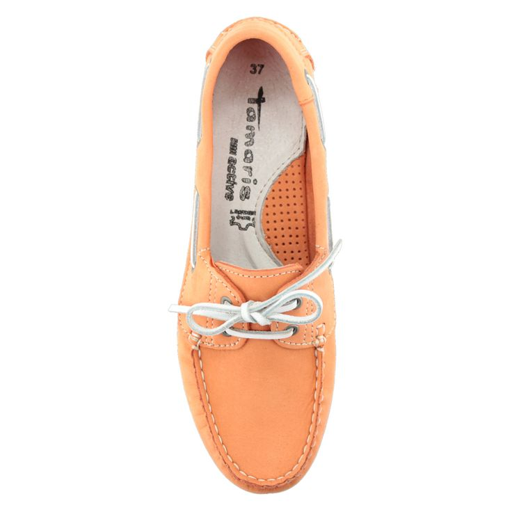 Narancs színű Tamaris vitorlás cipő | ChiX.hu cipő webáruházLapos, belebújós Tamaris mokaszín. A kedvelt Tamaris vitorlás cipők idei darabja, puha hajlékony talppal, bőr felsőrésszel. Márka: Tamaris Szín: Coral Modellszám: 1-23618-24 563