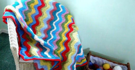 Another blanket is finished! This is my 'Cheerful Ripple', and I'm really pleased at how snuggly and cosy it's turned out. It's been so dis...