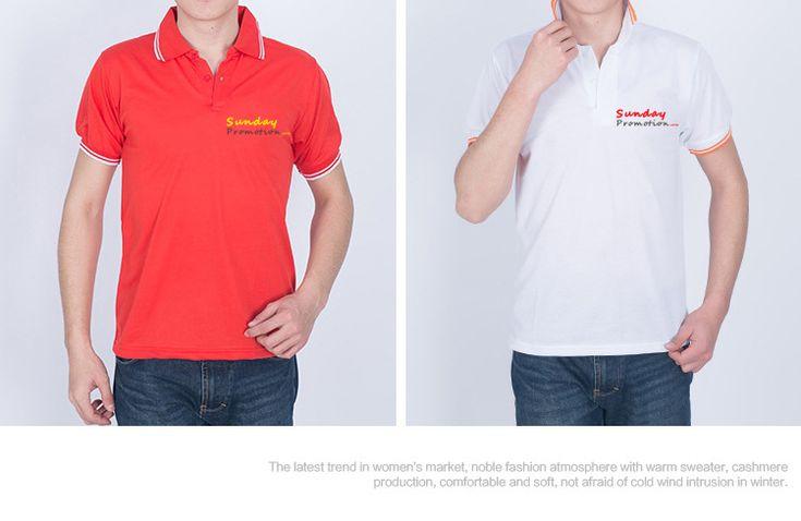 35% Cotton 7-oz White Trim Custom Polo Shirts - www.sundaypromotion.com make your custom branded items!