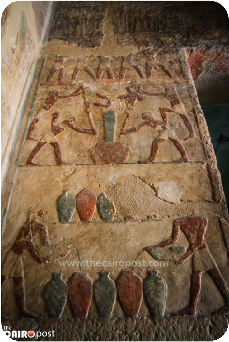 """According to the Antiquities Minister Mamdouh el-Damaty, """"The first tomb belonged to Emery, a High Priest and Administrative Overseer of the Royal Court during the Service of Nesi (Pharaoh) Khufu (c. 2589-2566 B.C.E.) while the second belonged to Nefer bau Ptah, Emery's eldest son who was an Overseer of the Royal Estates and a Superintendent of the Royal Palace during the 5th Dynasty (2494-2345 B.C.E). Kareem-Abdulkareem"""