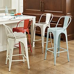 "I KNOW YOU DON""T LIKE BACKS, BUT THESE ARE VERY LOW AND STURDY Marian Metal Counter Stool"