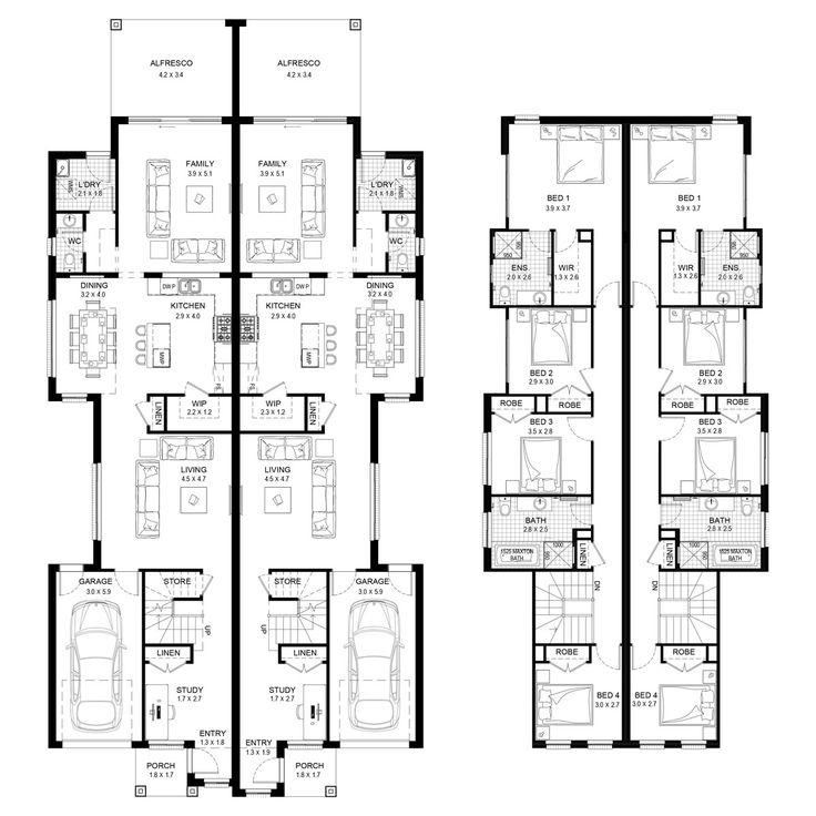 Norfolk 52 - Duplex Level - Floorplan by Kurmond Homes - New Home Builders Sydney NSW