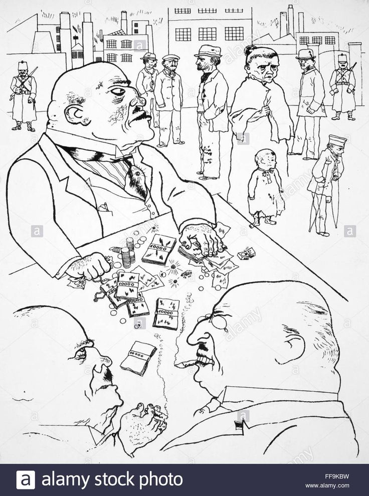 GROSZ: TOADS OF PROPERTY. /nPen and ink drawing, 1921, by George Stock Photo, Royalty Free Image: 95484477 - Alamy