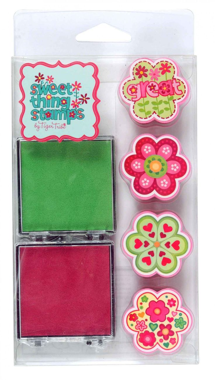 Express yourself with these adorable flower stamps by Tiger Tribe!  Flowers Stamp Kit includes 4 stamps and 2 brightly coloured ink pads - a gift for little girls that is guaranteed to be a hit!  Little Boo-Teek - Kids Toys Online   Flowers Stamp Set   Shop Tiger Tribe Online