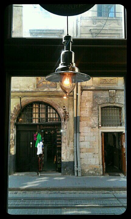 In cafe � #cafe #architecture #lviv #street #city #lamp #interior • Vitali on Streamzoo
