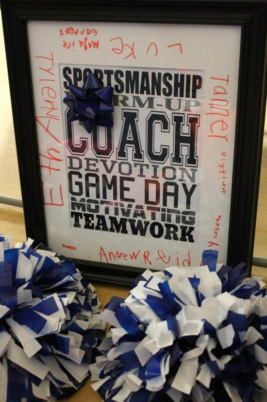 Basketball coaches thank you gift