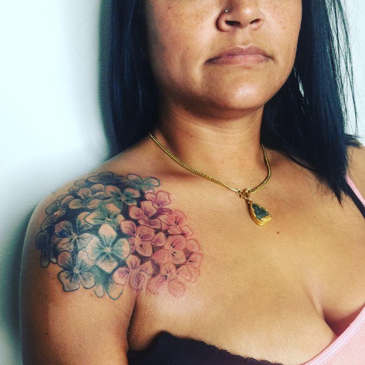hydrangea flowers by Nikki B. Located in Springfield, Mo. Follow @nikki_b_tattoos
