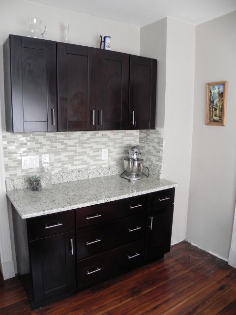 Our Mocha Shaker Cabinets And Handle Pulls RTA Kitchen Cabinets