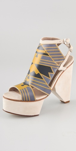 Surface To Air Louna Art Deco Platform Sandal. yikes.: Surface, Shoes Fastest, Air Louna, Sandals Style, Unusual Shoes, Air Shopbop Com, Shoes Flying, Shoes Envy, Platform Sandals