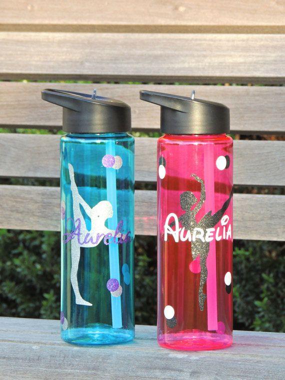 gymnastics water bottle dance water bottle by ShopAroundTheCorner3