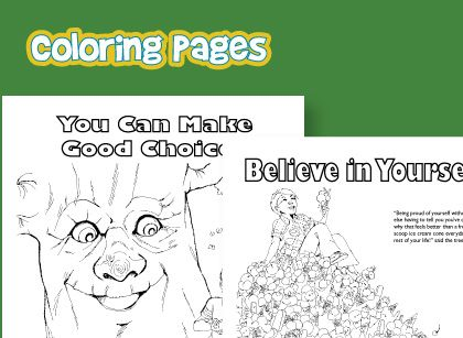 Free printable coloring pages teach good character traits