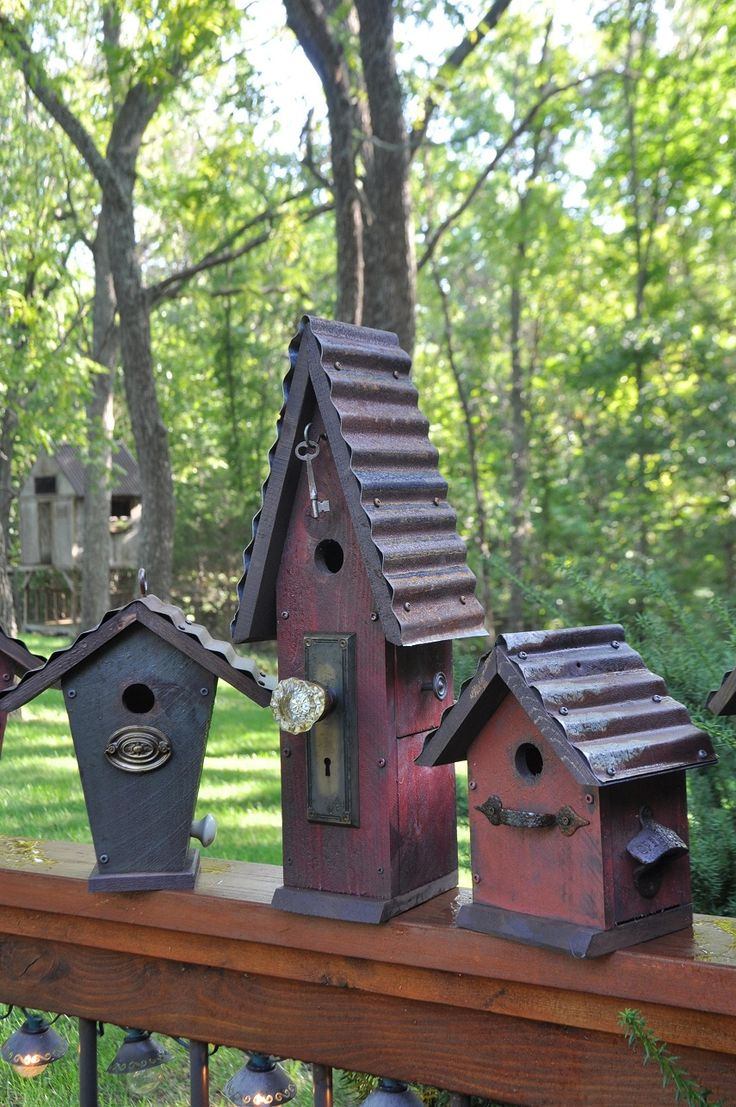 I like the one with the key.   Rebecca's Bird Gardens: Products: Birdhouses, feeders, wreaths and more...