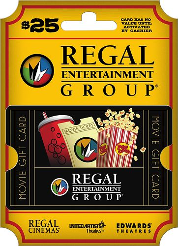 Regal Entertainment Group - $25 Gift Card, Multi