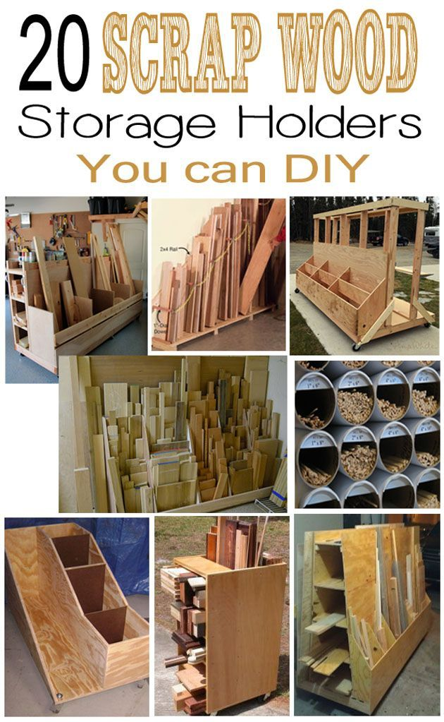 20 Scrap Wood Storage Holders You Can