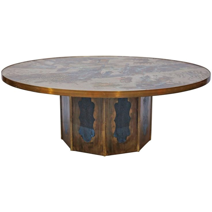 Mastercraft Furniture For Sale #29: For Sale On - Classic Brass Etched Brass Cocktail Table, Made In Cooperation With Mastercraft Furniture, The Premier Brass Furniture Manufacturer, ...