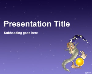 Wizard Design PowerPoint template is a free design for PowerPoint with Wizard image that you can download and use for any Wizard game or Wizard 101