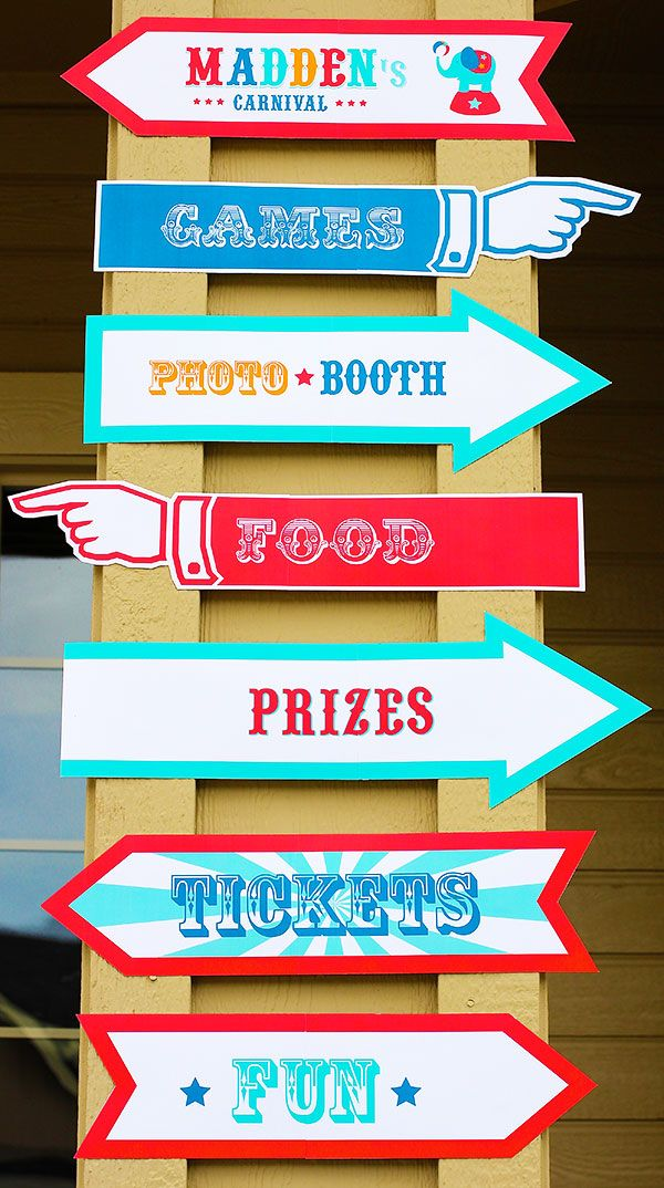 kim here s another idea for the directional signs kids bday