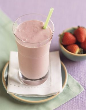 Creamy Strawberry Smoothie with Condensed Milk. Moroccan-style milkshakes and smoothies rarely include yogurt, but this one manages to get lots of volume and creaminess thanks to the inclusion of sweetened condensed milk (lait concentré sucré). Try it – it's delicious!