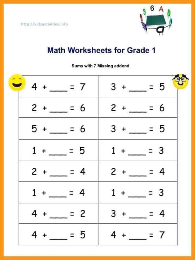 Kindergarten Addition Worksheets Pdf