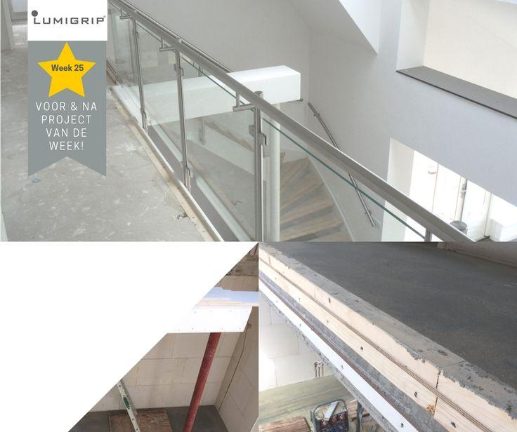 Woon gezond met veel daglicht! Door een Glazen balustrade toe te passen kan dit licht nog verder de ruimte in reiken. #pvdw #lumigrip #vide #traprenovatie