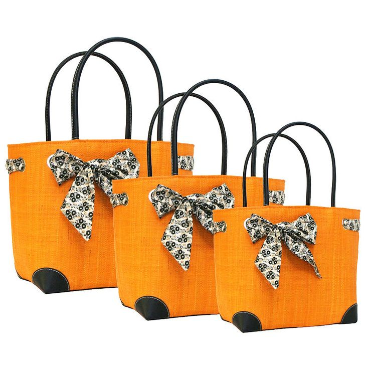 Beautiful Happy Days #Baskets in a lovely bright Mandarin with Floral Bows.