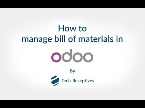 Odoo allows you to set the bill of materials for salable products - bill of material