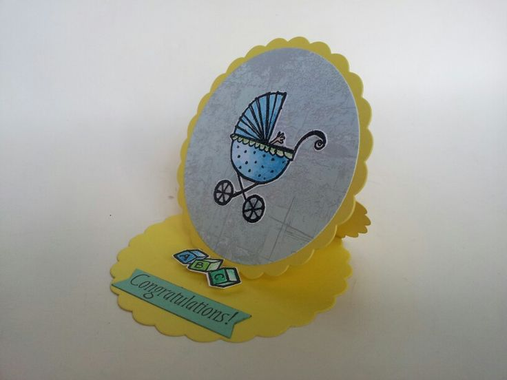 Easel baby card