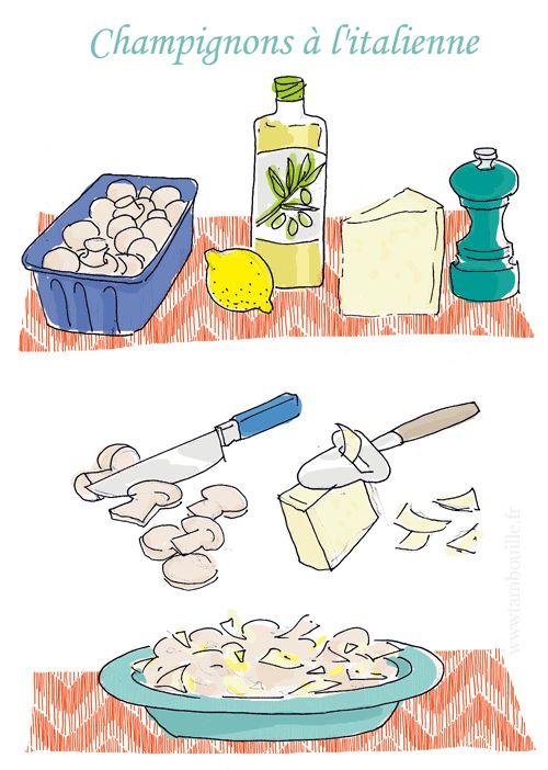 champignons parmesan tambouille.fr