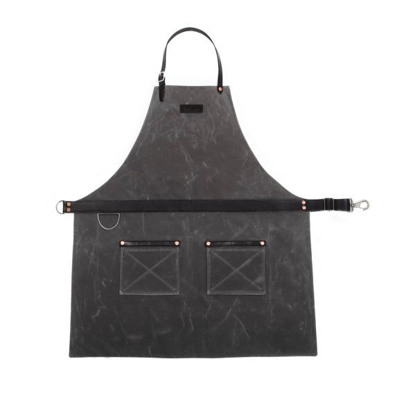 Rugged Men's Apron - Waxed Canvas - Charcoal