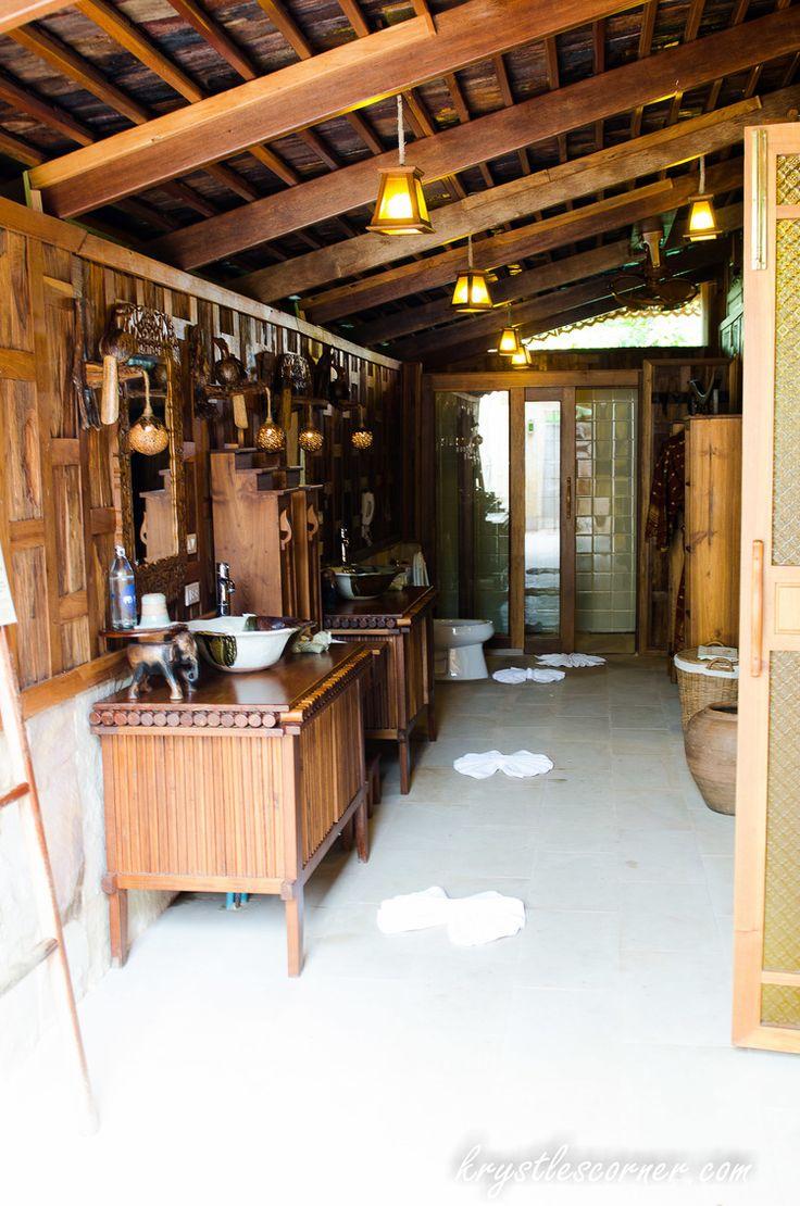 The bathroom at Santhiya Resort and Spa Koh Yao Yai Island Thailand www.krystlescorner.com