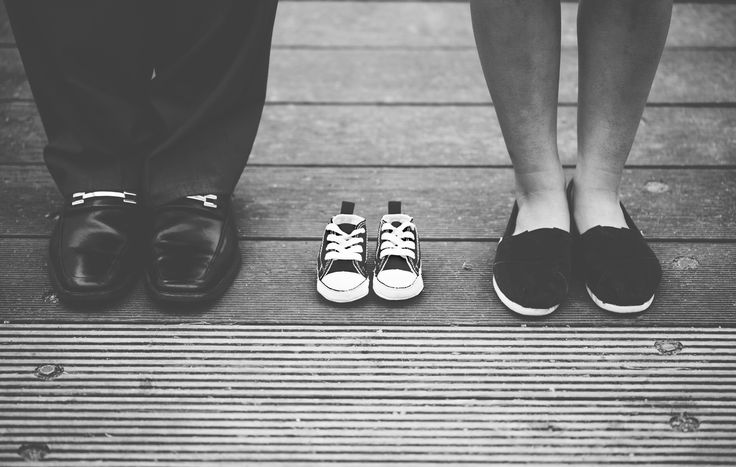 Shoes for baby. Pregnancy announcement ideas photography