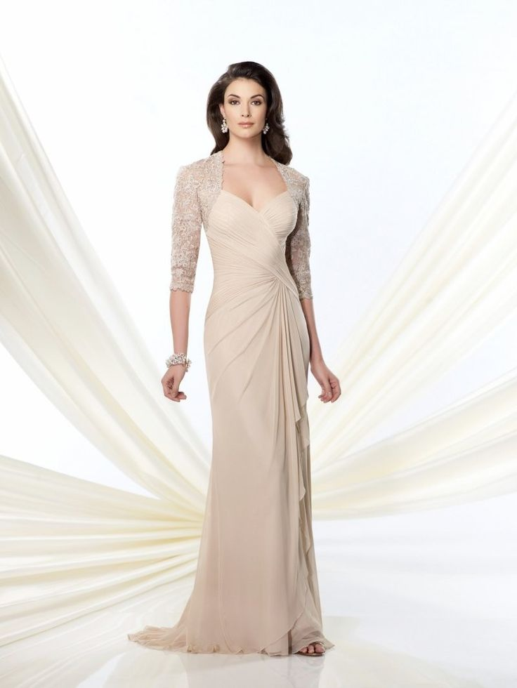 Elegant Sweetheart Champagne Chiffon Mother Of The Bride