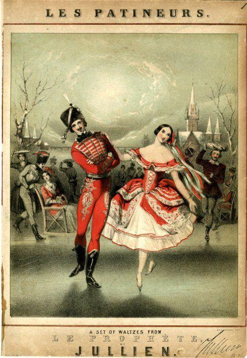 "aleyma:  "" John Brandard, Les Patineurs, c.1841 (via).  """