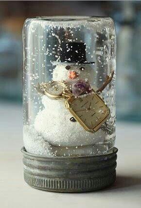 Zelf een sneeuwbol maken, leuk als kerstcadeau