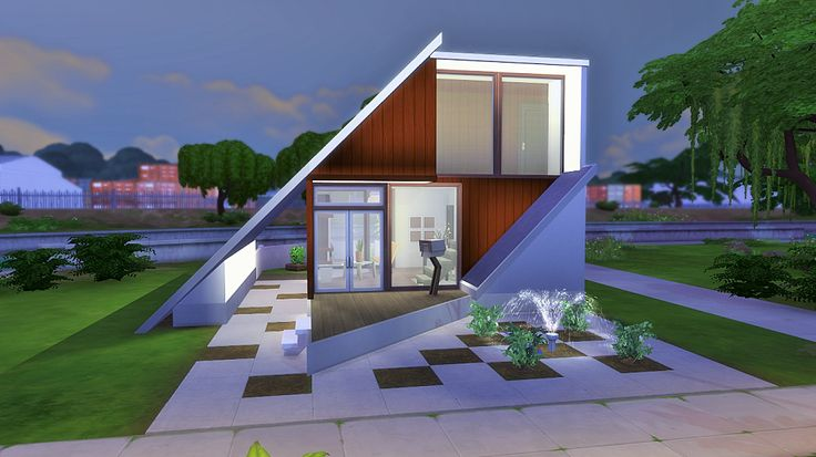 Obejrzyj t parcel w galerii the sims 4 chocolate cube small modern houses and house for Small modern architecture homes
